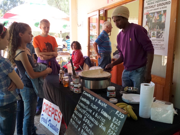 Camphill market pancakes stall