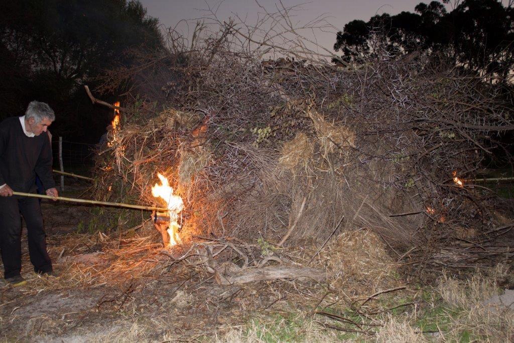 St John's celebration bonfire