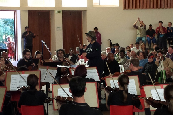 Cape Town Philharmonic - villagers conducting