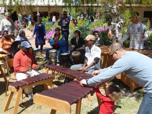 Camphill Market - marimba band