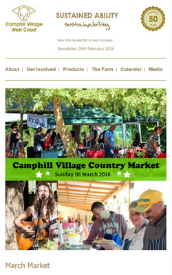 Camphill Village - FEBRUARY 2016 Newsletter