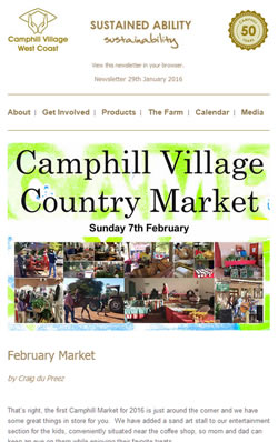 Camphill Village - JANUARY 2016 Newsletter