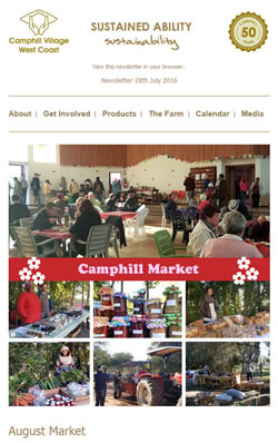 Camphill Village - JULY 2016 Newsletter
