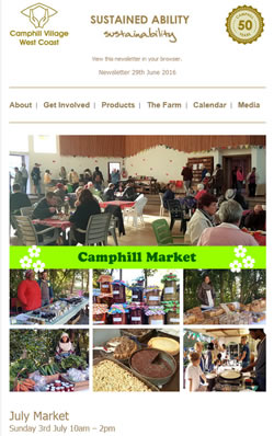 Camphill Village - JUNE 2016 Newsletter