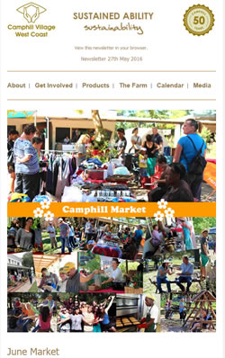 Camphill Village - MAY 2016 Newsletter