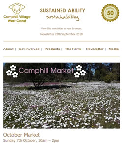 Camphill Village - SEPTEMBER 2018 Newsletter